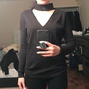 Missguided choker neck sweatshirt